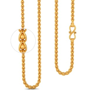 22kt Caged Bead Link Chain Gold Chains