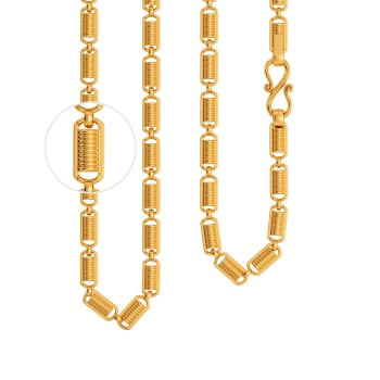22kt Spring Link Chain Gold Chains