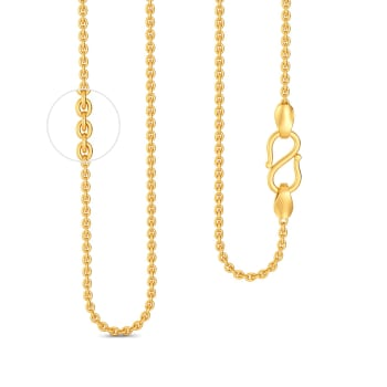 18kt Medium Round Anchor Chain Gold Chains