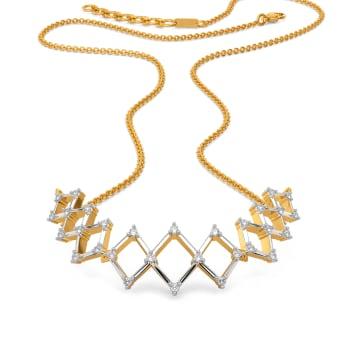 Crochet O Clock Diamond Necklaces