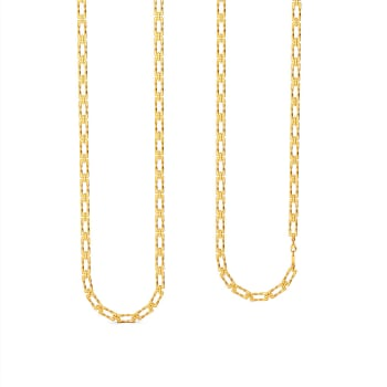 Oblong Links Gold Chains