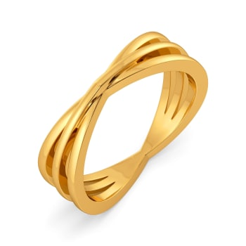 Edgy Contours Gold Rings