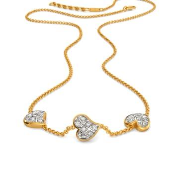 Plaid Date Diamond Necklaces
