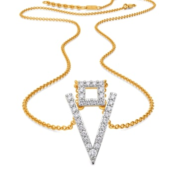 Troika Bends Diamond Necklaces