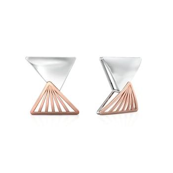 Triangular Drift Gold Earrings