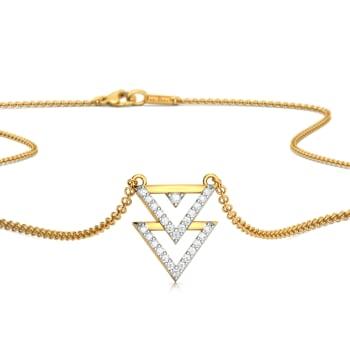 Trico Triangle Diamond Necklaces