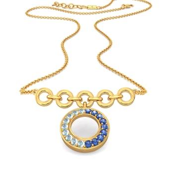 Denim Duo Gemstone Necklaces