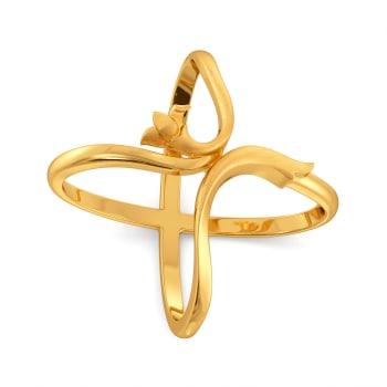 Vine Repeat Gold Rings