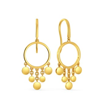 Disco Drama Gold Earrings