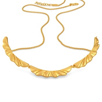 Ruffle Shuffle Gold Necklaces
