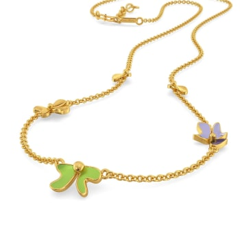 Saga de Corsage Gold Necklaces