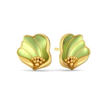 Flax Petale Gold Earrings
