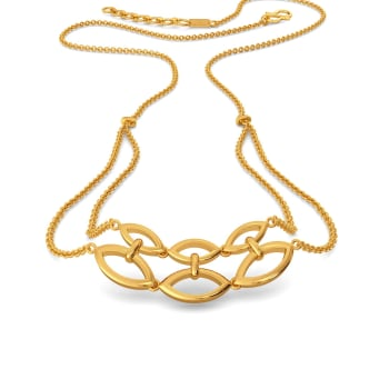 Nets in Mesh Gold Necklaces
