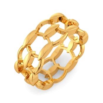 Meshy Affair Gold Rings