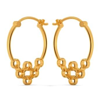 Port And Net Gold Earrings