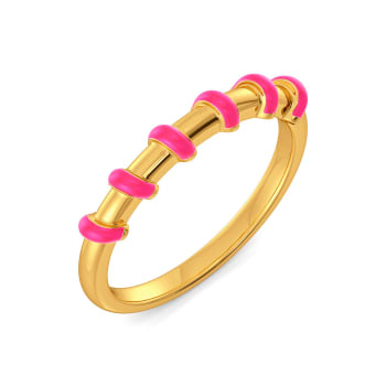 Pink On The Brink Gold Rings