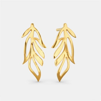 Feather Friends Gold Earrings