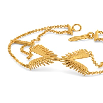 Feather Feels Gold Bracelets
