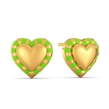Look at Me Green Gold Earrings