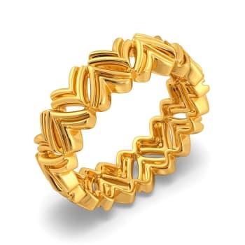 Drapes Urbane Gold Rings