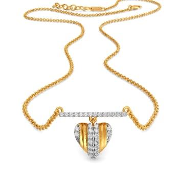 Pleats of Hearts Diamond Necklaces