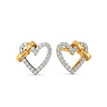 Doting Bows Diamond Earrings