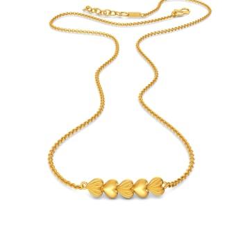 Crafty Hearts Gold Necklaces