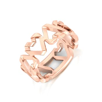 Origami Heart Gold Rings