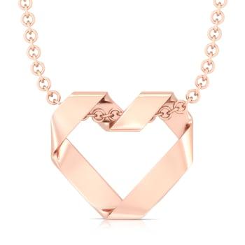Origami Heart Gold Pendants