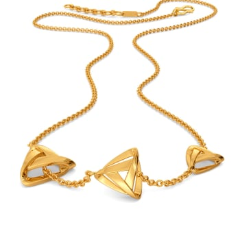 Slinky Sheers Gold Necklaces