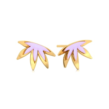 Lilac Licious Gold Earrings