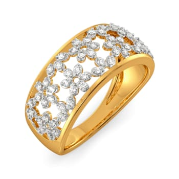 Lace Line Up Diamond Rings