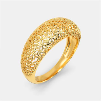 A Lot Like Lace Gold Rings