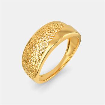 Lace Nouveau Gold Rings