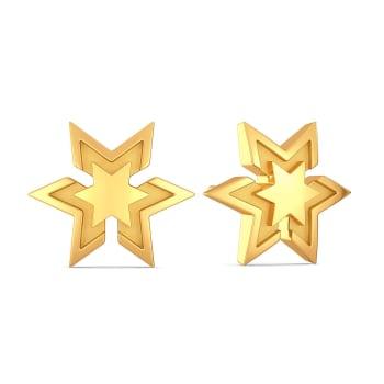 Star Afar Gold Earrings