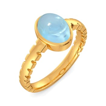 Brewed in Blue Gemstone Rings