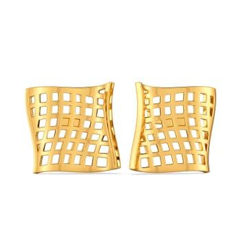 Visual Drama Gold Earrings