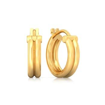 Duple Loops  Gold Earrings