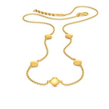 Rhombi Lovin Gold Necklaces