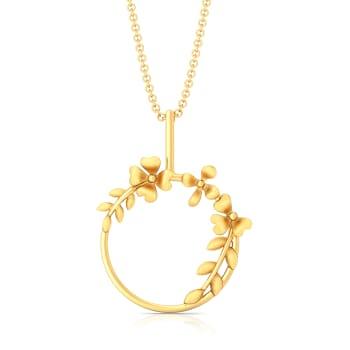 Floral Crown Gold Pendants