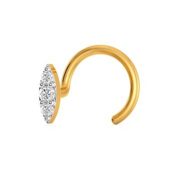 Leafa Diamond Nose Pins
