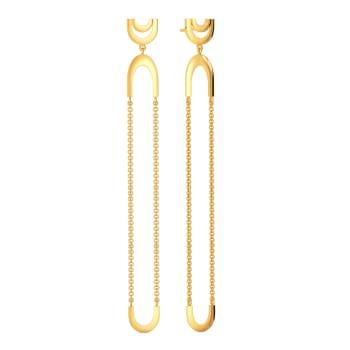 Fluid Fall Gold Earrings