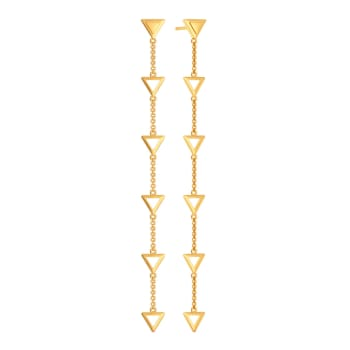 Triangle Tiers Gold Earrings