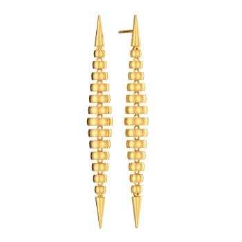 Shoulder Drop Gold Earrings