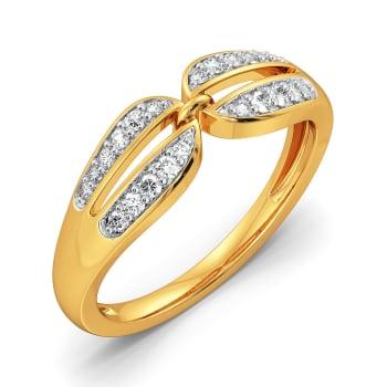 Twinning Paisley Diamond Rings