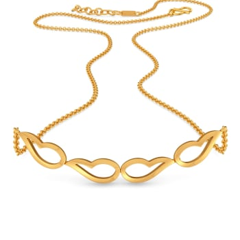 Groovy Paisley Gold Necklaces