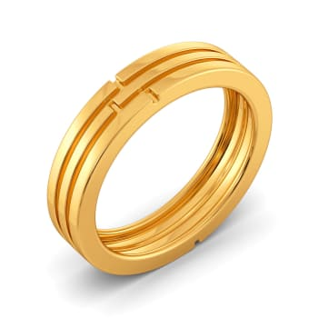 Calm N Classic Gold Rings