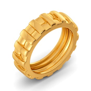 Winter Woven Gold Rings