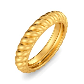 Classic Twists Gold Rings