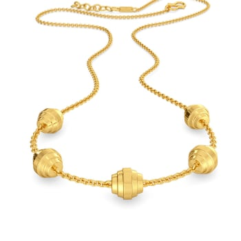 Pucker Up Gold Necklaces